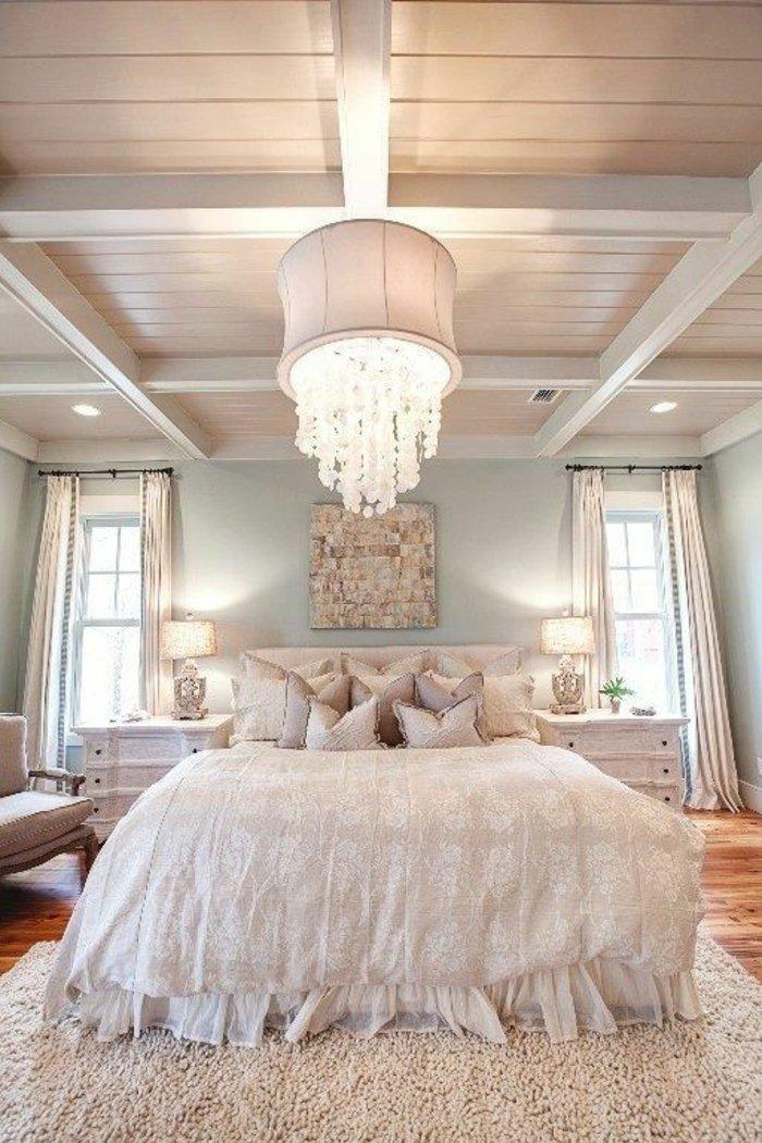 освещение в спальне нежный интерьер фото