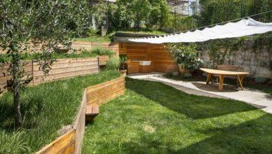открытая терраса пристроенная фото газон