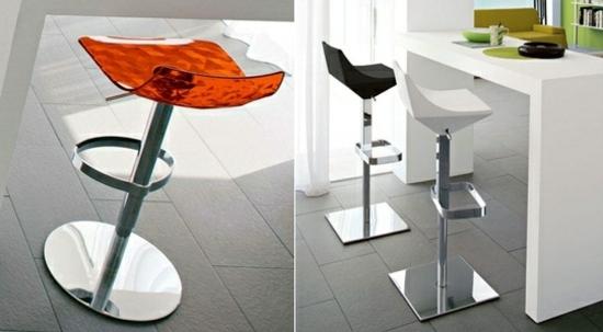 пластиковые барные стулья фото красный черный белый