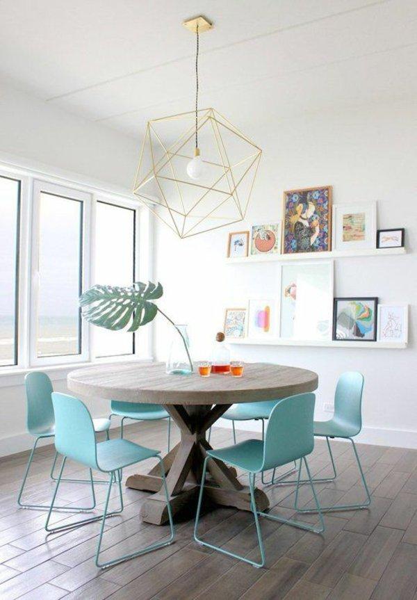 пластиковые голубые обеденные стулья для кухни фото