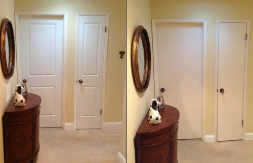 сменить межкомнатная дверь до и после фото