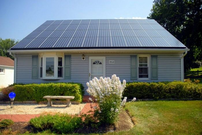 солнечная батарея на крышу дома