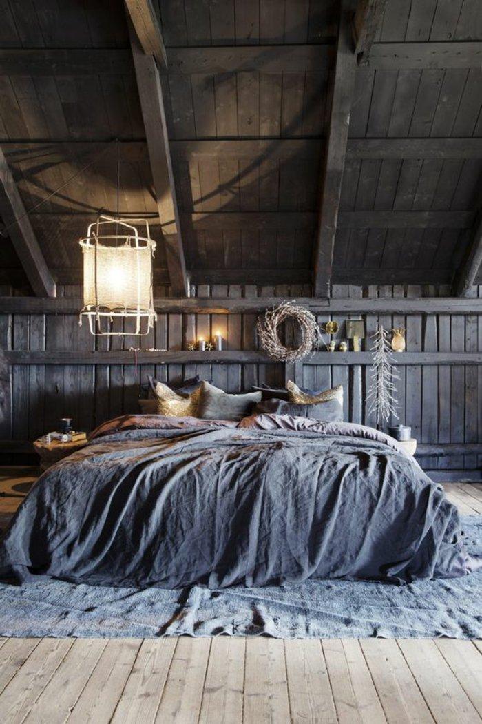 спальня деревенский стиль фото люстра своими руками