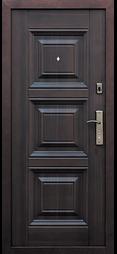 темная металлическая дверь в квартиру фото