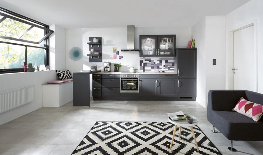 дизайн черной кухни фото интерьер скандинавский стиль