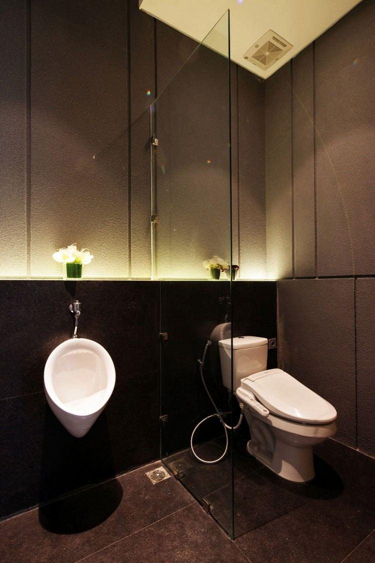 дизайн ванной с панелями фото LED-подсветка