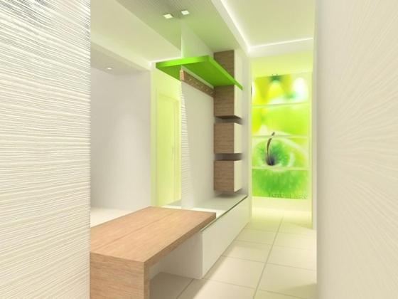 идеи дизайна коридора фото 3д панели зеленый