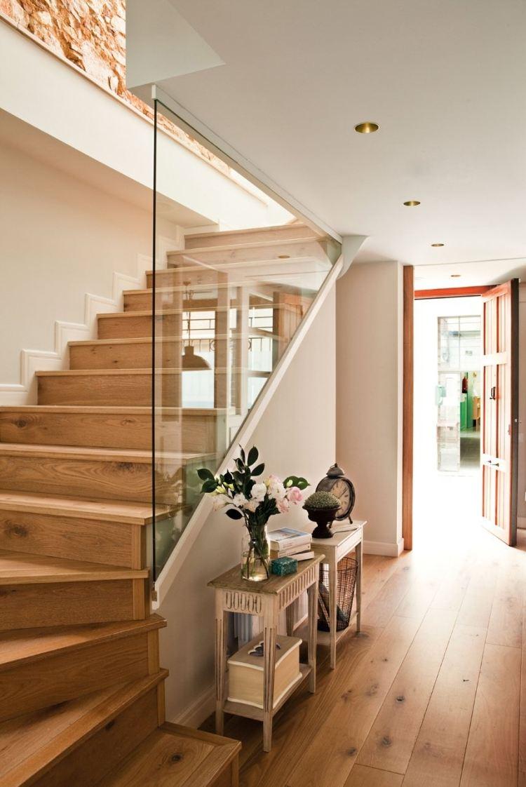 идеи дизайна коридора фото деревянные пол крашеные стены