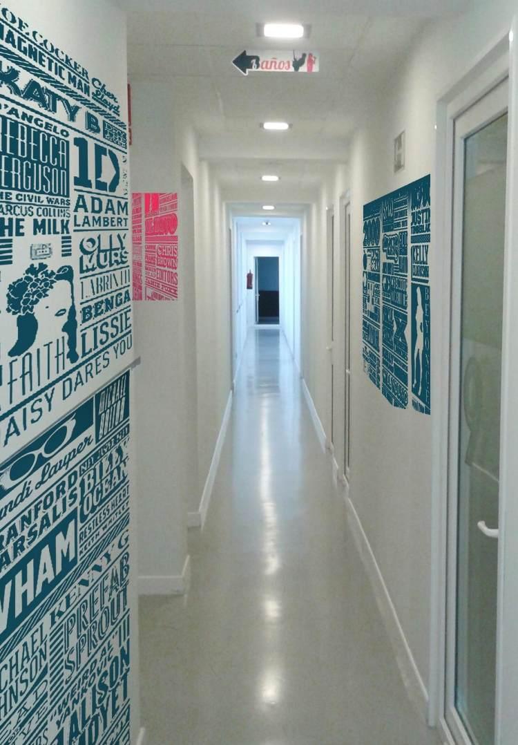 идеи дизайна коридора фото интерьерные наклейки