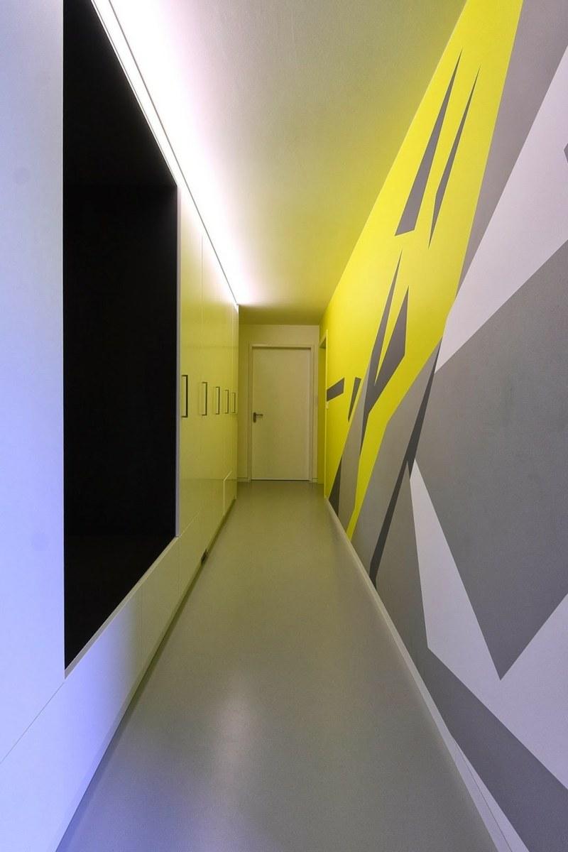 идеи дизайна коридора фото крашеные стены современный стиль
