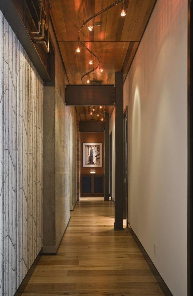 идеи дизайна коридора фото обои с графическим узором черно-белые