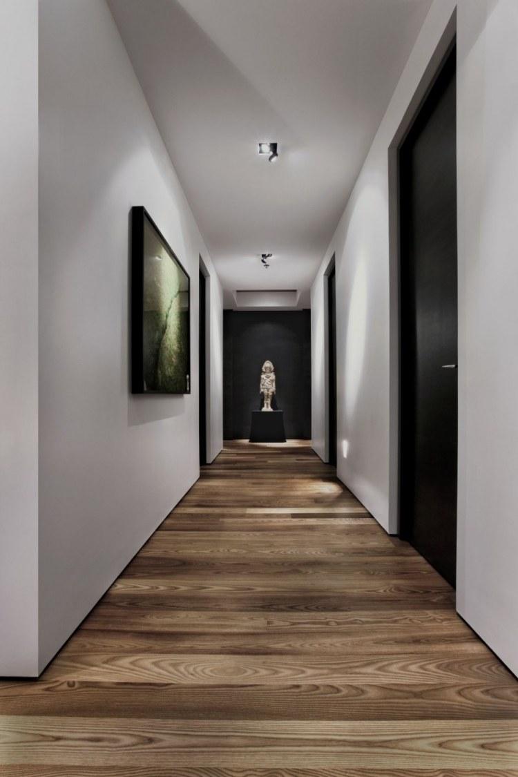 идеи дизайна коридора фото произведения искусства паркетный пол