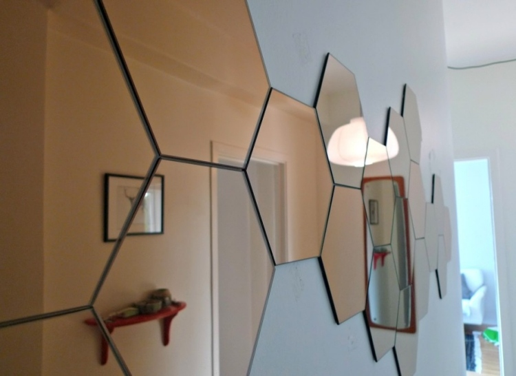 идеи дизайна коридора фото зеркала соты