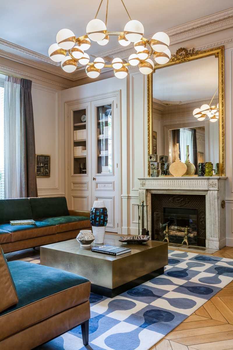 интерьер в стиле современное барокко фото гостиная