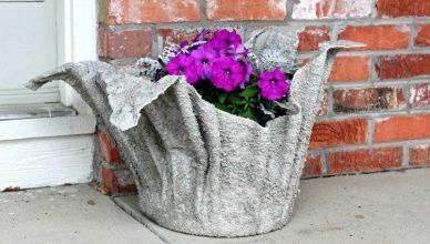 как сделать фигуры для сада своими руками фото мастер класс цветочный горшок цемент