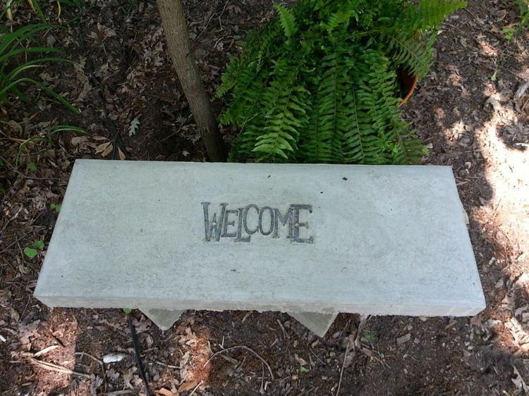 как сделать фигуры для сада своими руками фото мастер класс скамейка цемент бетон