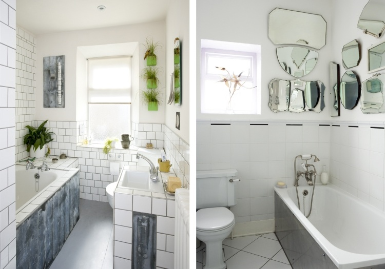 комната ванная ретро стиль фото маленькая белая