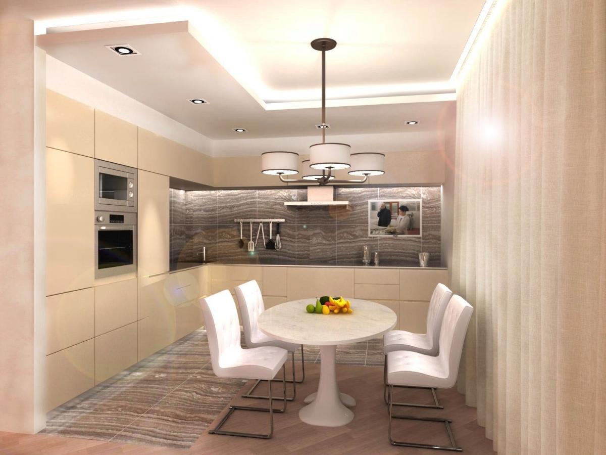 кухня в стиле арт-деко в интерьере дизайн кожаные стулья