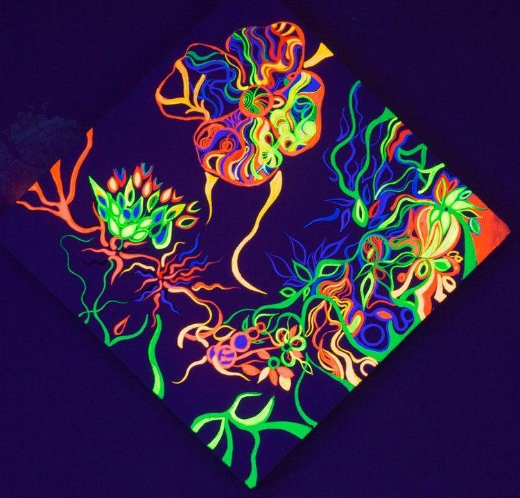 настенная картинка светящаяся фото акриловые люминесцентные краски
