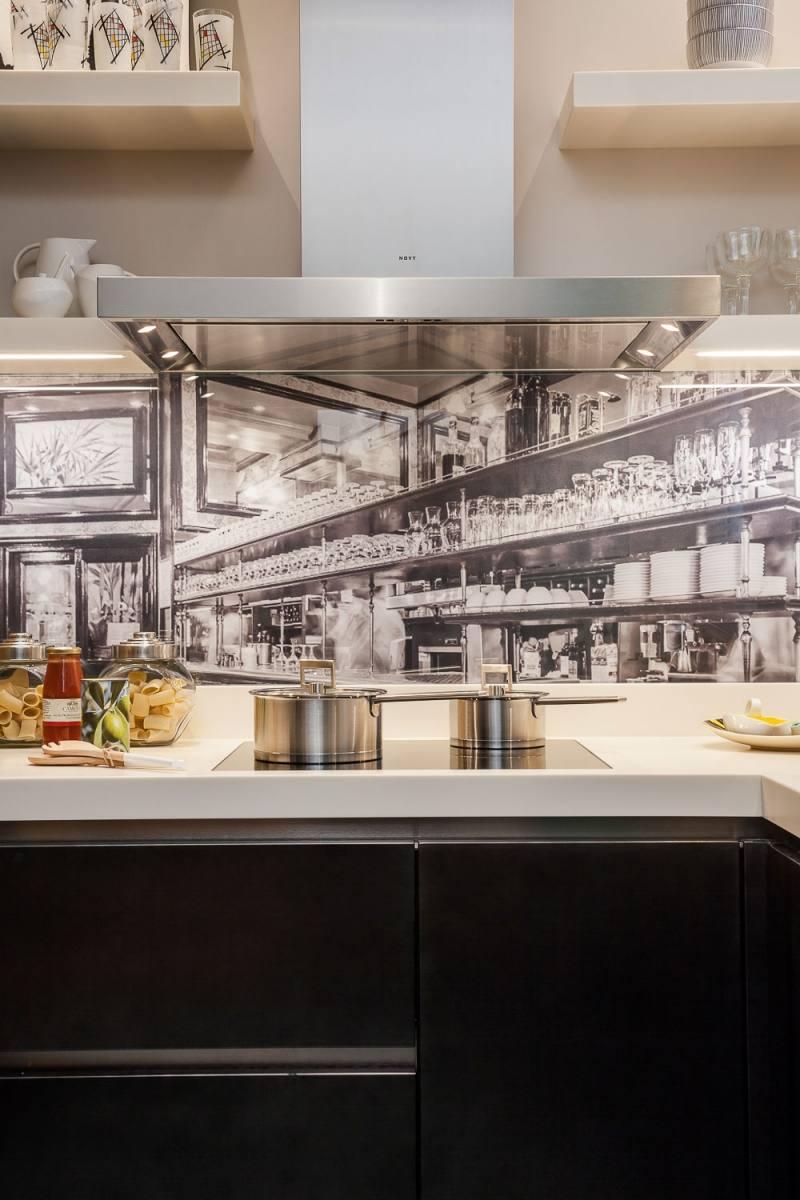современная кухня фотообои фартук фото