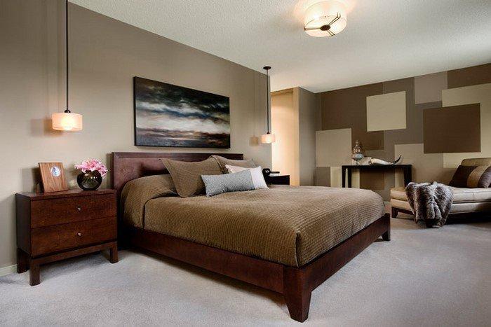 Современные идеи дизайна спальни 2016 фото бежевые коричневые тона