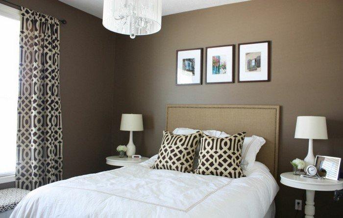 Современные идеи дизайна спальни 2016 фото коричневый серый белый