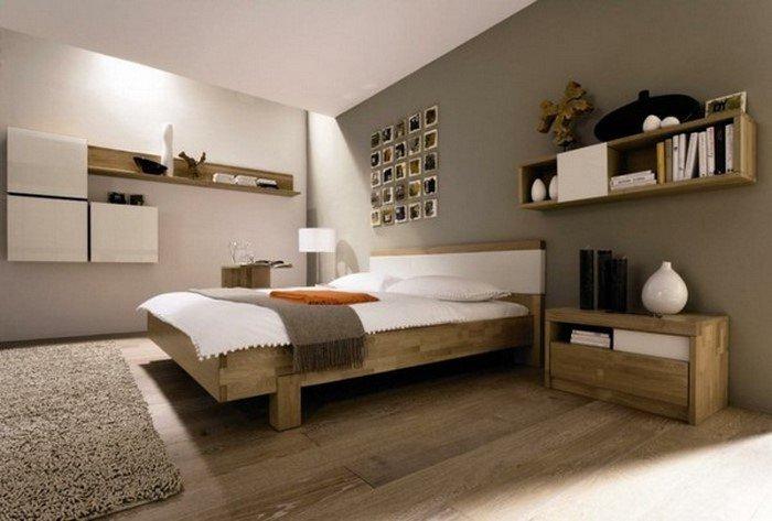 Современные идеи дизайна спальни 2016 фото темные стены деревянная мебель
