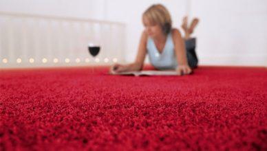 бордовый ковролин в интерьере фото палас на пол