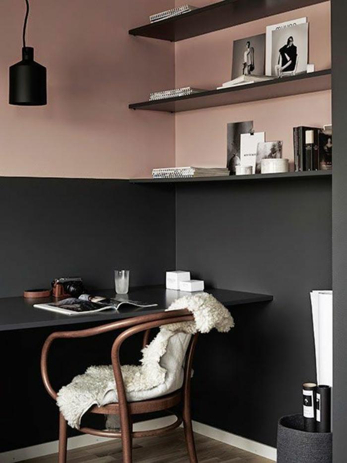 черно розовый цвет в интерьере фото кабинет сочетание цветов