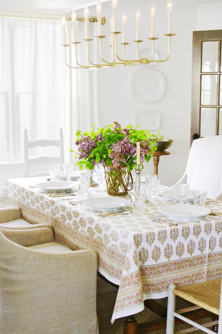 стиль кантри в столовой фото кресла свечи