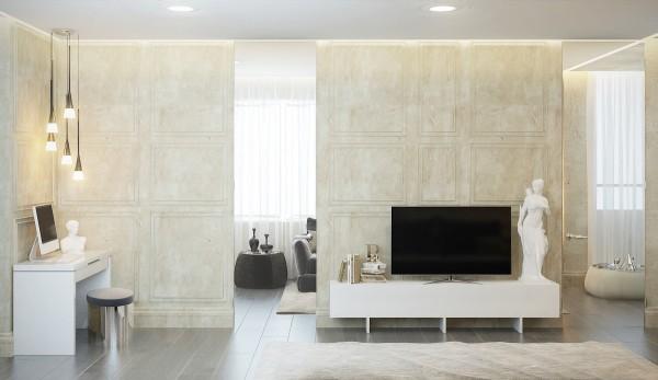 стиль современная классика в интерьере фото дизайн гостиной кабинета