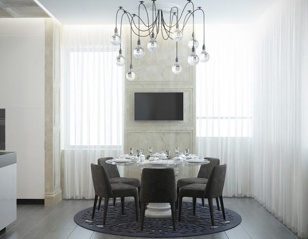 стиль современная классика в интерьере фото дизайн столовой