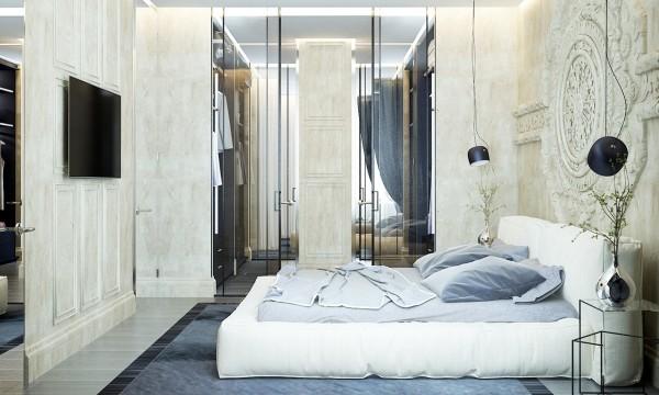 стиль современная классика в интерьере спальни фото дизайн