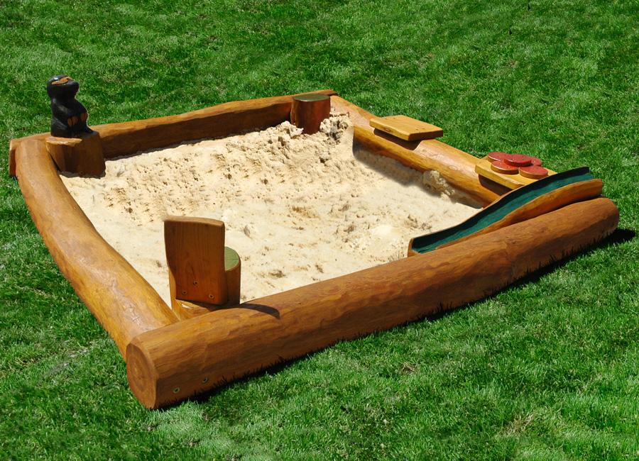 Песочница с крышкой с поэтапнымиграфиями
