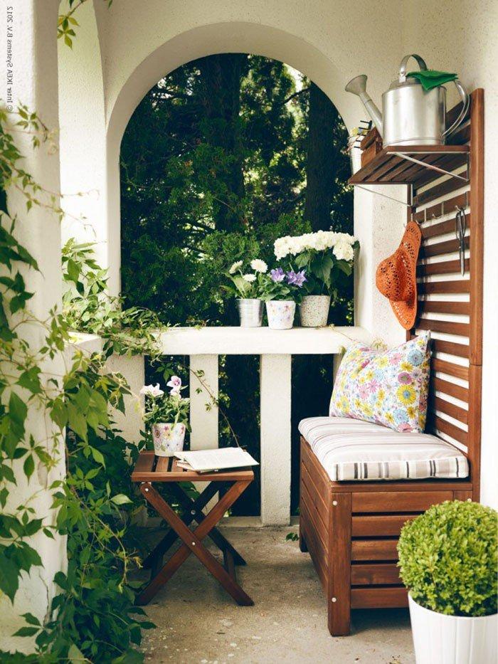 Идеи летнего балкона, 80 фото.