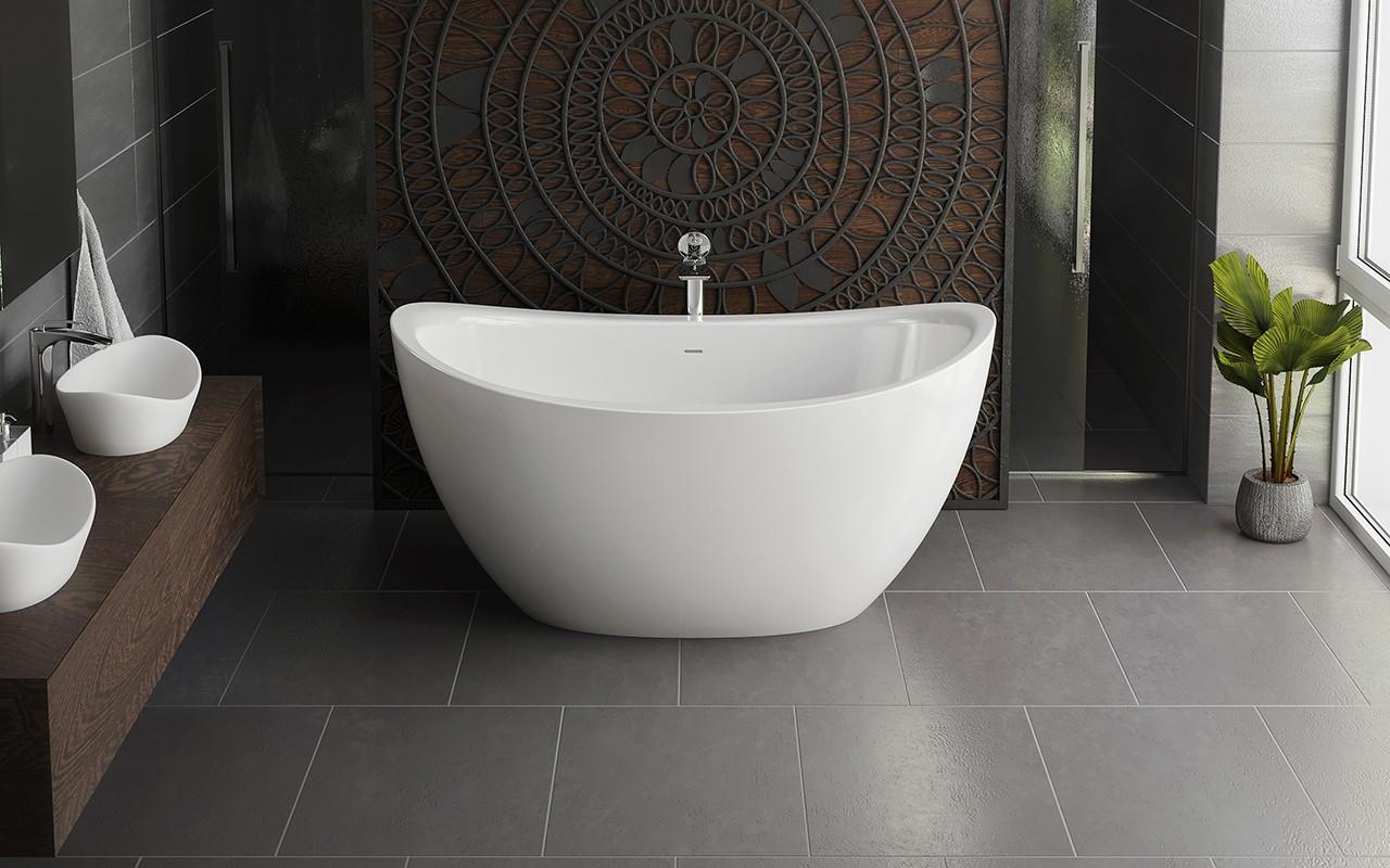 Роскошная ванна необычной формы 2