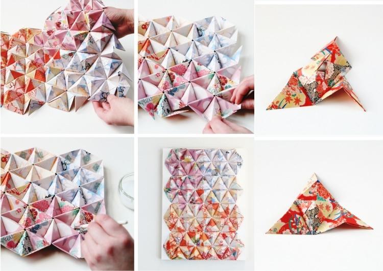 Декор стен своими руками из оригами-3Д фото (1)