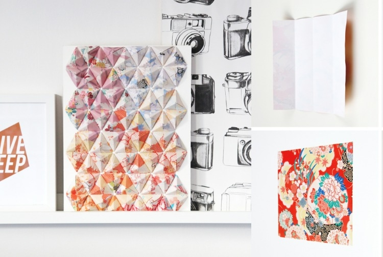 Декор стен своими руками из оригами-3Д фото (4)
