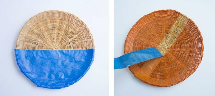 окраска плетеной тарелки фото (1)