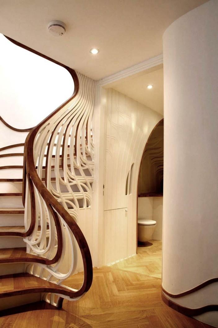 лестница в стиле модерн фото