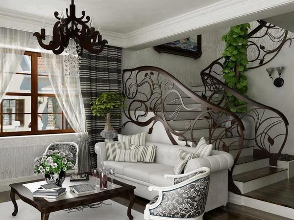 гостиная стиль модерн в интерьере фото