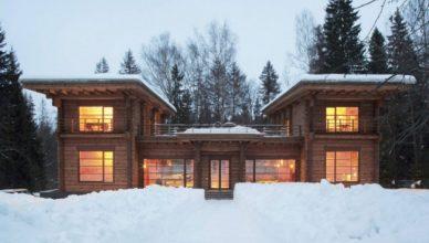 проект зимнего дома из бруса фото (1)