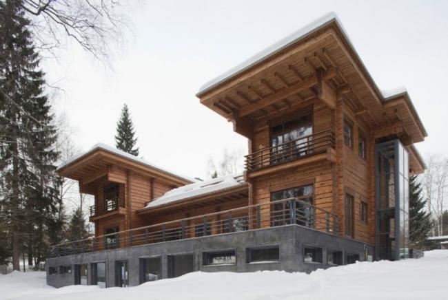 проект зимнего дома из бруса фото (13)