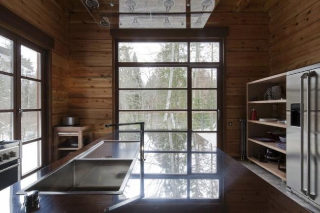 интерьер дома из бруса внутри фото