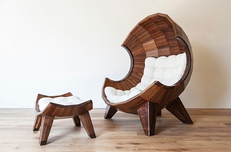 Необычное кресло дарит ощущение защищенности и уюта