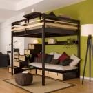 Двухъярусная кровать для взрослых с диваном и ящиками