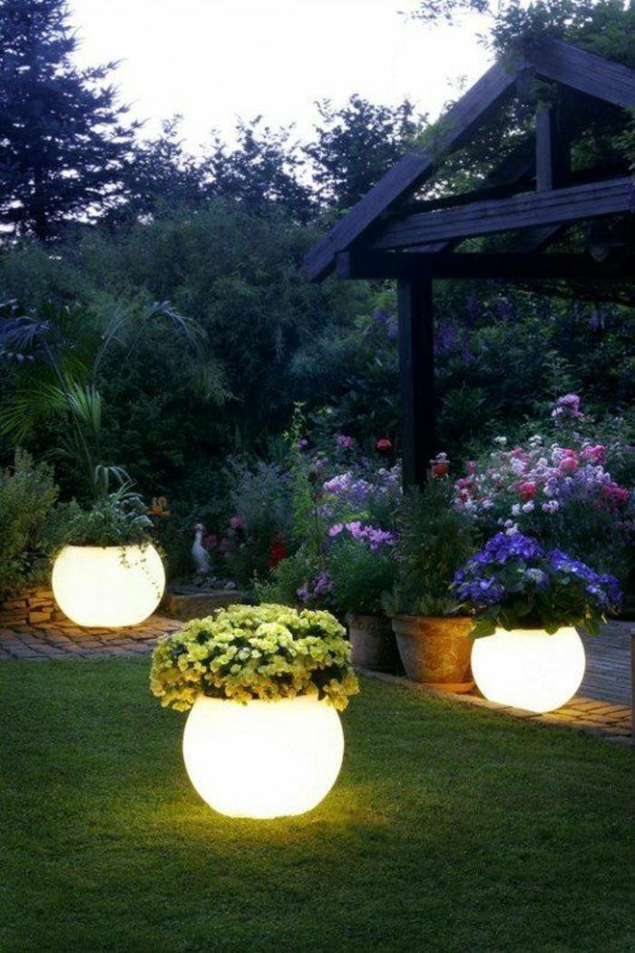 Фото садовые светильники шары