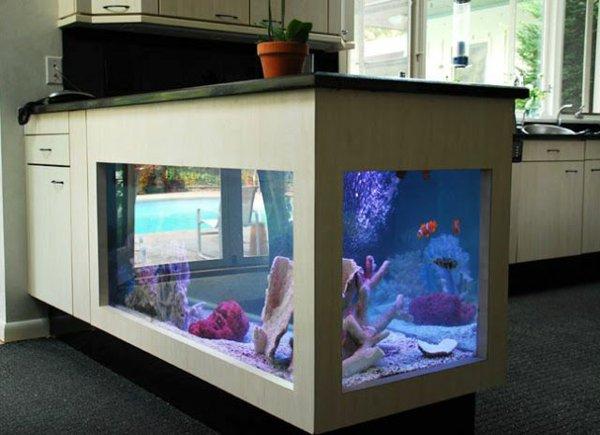 Кухонный островок - тумба под аквариум
