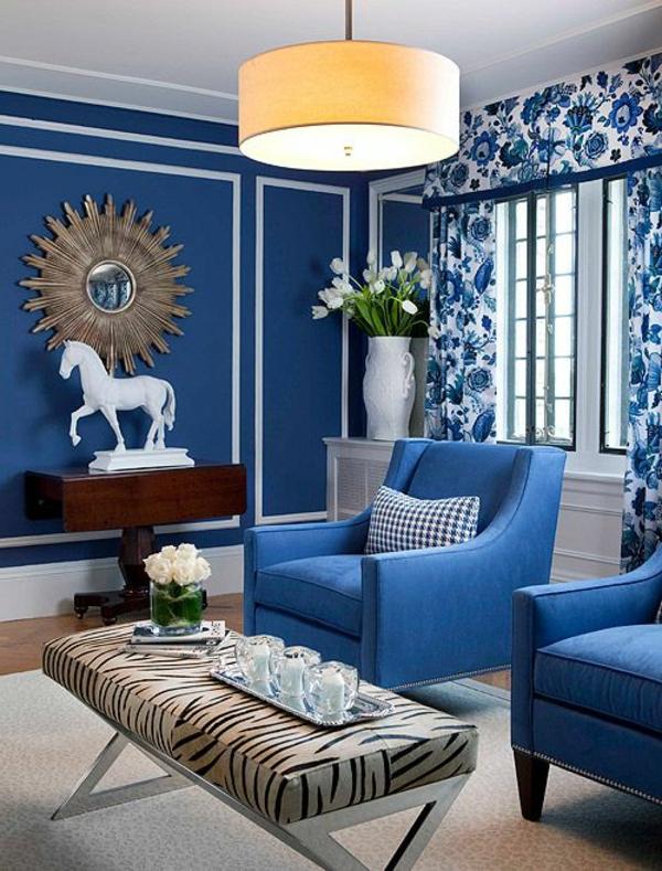 фото интерьер в синем цвете
