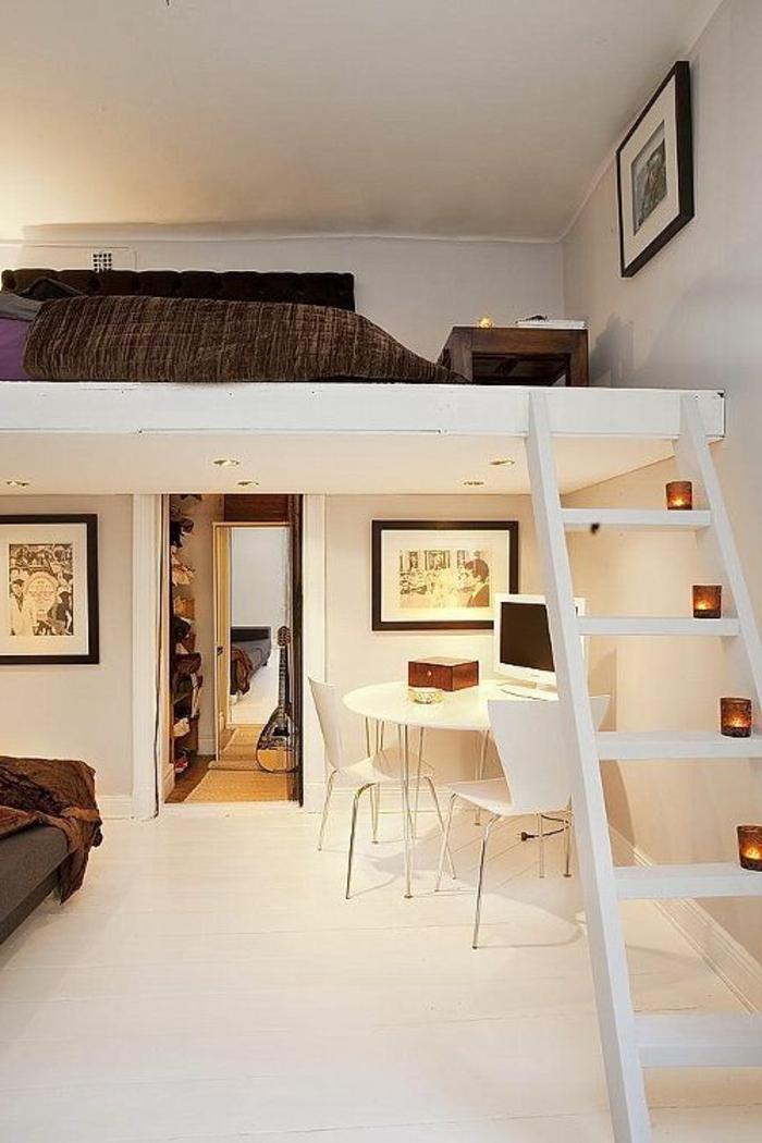 Двухъярусная кровать для взрослых для квартиры